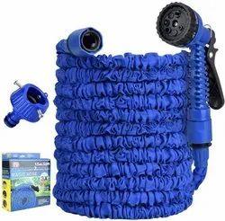 Flexible Garden Hose Water Pipe Hose Extension Garden Hose,7-Pattern Spray Water Gun 15 Meter