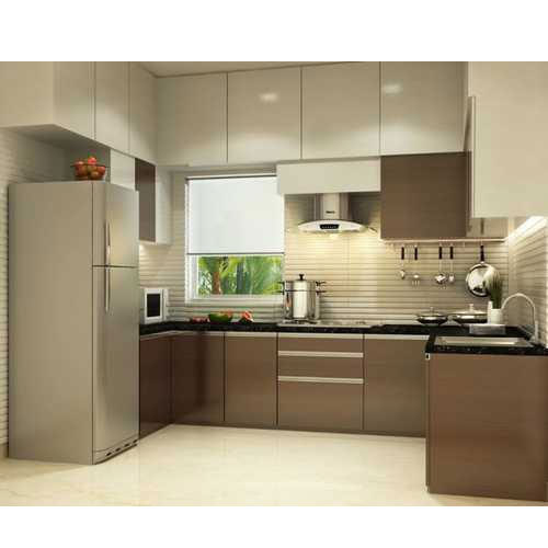 Modular Kitchen: U Shape Residential Modular Kitchen Designing Service