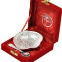 Silver Polished Brass Bowl n Spoon 274