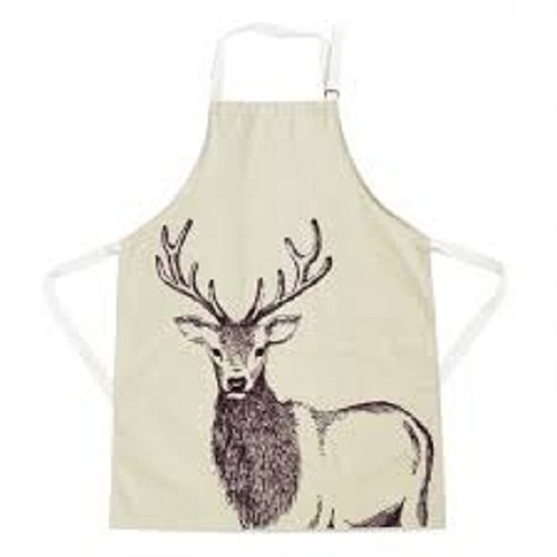 Printed Cotton Apron, Size: 60 X 90 cm and 70 X 90 cm