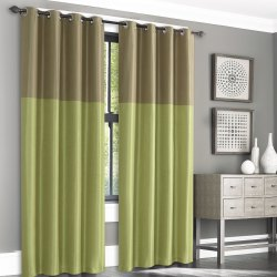 Silk Weave Green Blackout Curtain
