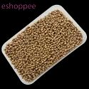 Eshoppee 1kg Gold, Brown Color Seed Beads 8/0
