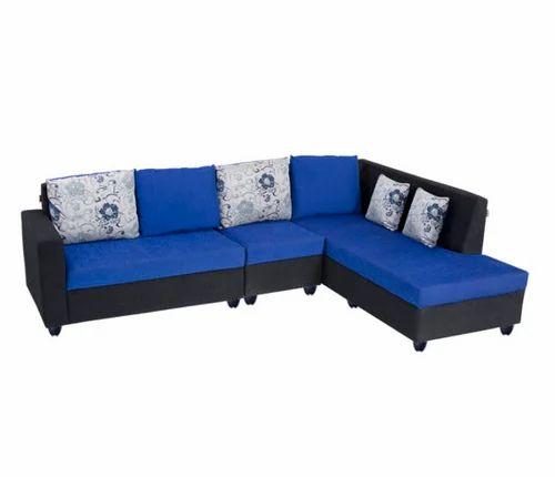 Admirable Bharat Lifestyle Nano L Shape Fabric Sofa Set Machost Co Dining Chair Design Ideas Machostcouk