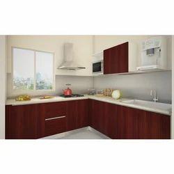 V Shaped Modular Kitchen