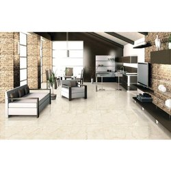 Ceramic Glossy Botticino Crema Floor Tiles, Thickness: 5-10 mm, Size: 120 x 60cm