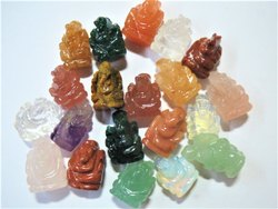 Assorted Pocket Baby Gemstone Ganeshas 20-25mm size For Luck & Prosperity