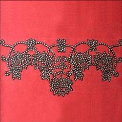 Sequin Lotus Border Embroidery
