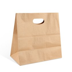 D Cut Paper Bags 11x6x11 Inches - 80GSM