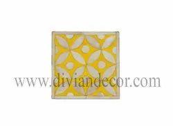 Square Pretty Bone Inlay Coasters