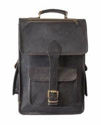 SKH Adjustable Strap Leather Backpack