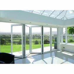 White Modern Aluminium Foldable Door for Home