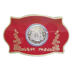 Silver Printed Coin Packing Card