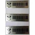 Metal Bar Code