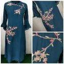 Hand Work Embroidery Long Kurti