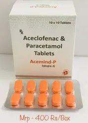 Aceclofenac 100mg & Paracetamol 325mg Tab