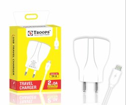 Troops TP- 253 2.0AMP 1 USB Adapter Flower with Cable