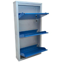 3 Shelves Wall Mounted Stainless Steel Shoe Rack
