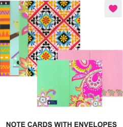 Note Card With Envelopes Pack Of 6