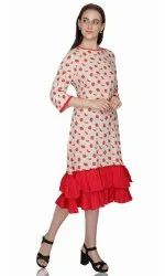 Printed Party Wear Womens Dresses