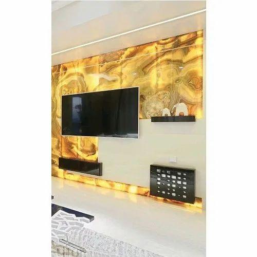Yellow Modern Alabaster Sheet Size Dimension 8x4 Feet Rs 850