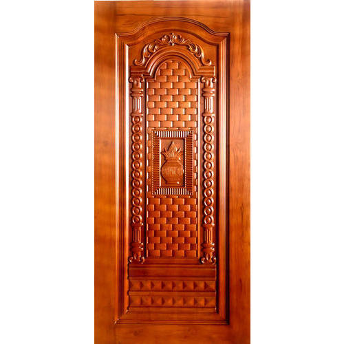 Teak Wood Teak Wooden Panel Door, Thickness: 32mm