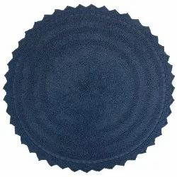 Cotton Multi Color Shaggy Style Round 24 Floor Bath Mat