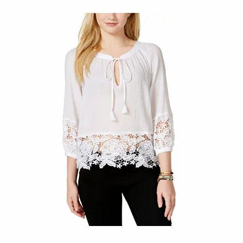 03d71791e319d9 Small Cotton Ladies Stylish Top