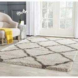 Rectangular Jute Wool Room Carpet, Size: 5 X 8 feet