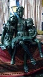 Lady Black Decorative Fiber Statue, for Interior Decor