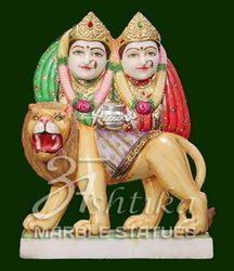 Marble Durga Chamunda Mata Statue