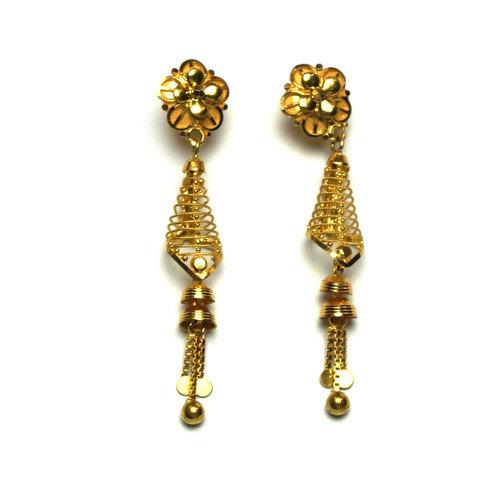 Gold Jhumka Earrings