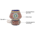 Handmade Decorative Colorful Glass Electric Table Lamp