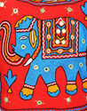 Jaipuri Elephant Mirror Work Embroidery Women Hand Sling Bag