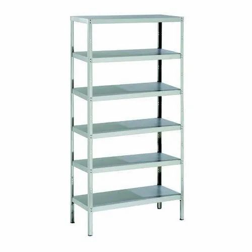 Stainless Steel 6 Shelves SS Commercial Storage Rack, Rs ...