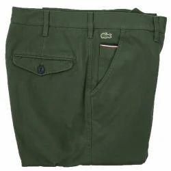 Green Cotton Men's Trouser