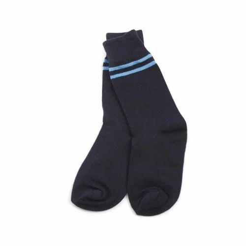 Plain Calf Length School Socks For Uniform