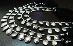 Silver Pyrite Pear Shape Beads