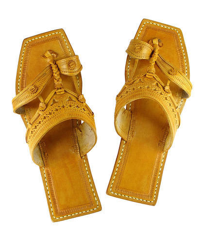 d94f590d793a Leather Old Fashioned Authentic Kolhapuri Chappal, Size: 5 To 10, Rs ...