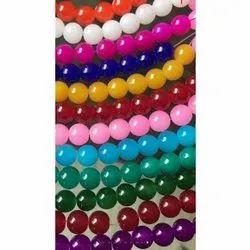 Round Acrylic Plain Beads