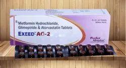 Metformin,Glimperide & Atorvastatin