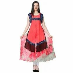 LKAAAF-20B Sleeveless Ladies Kurti