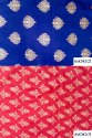 Rayon Tie Dye Gold Butti Print Fabric