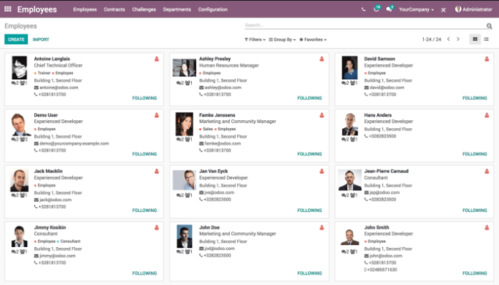 ODOO human resource management software