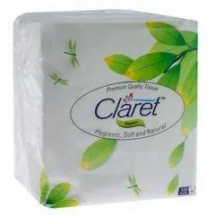 30 x 30 mm Claret 100% Virgin Pulp Tissue Napkin