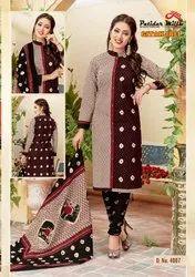 PATIDAR MILLS Regular Wear Cotton Printed Dress Cotton Dupatta Collection, Unstitch