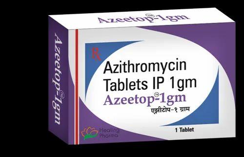 Antibiotic Azeetop 1000 Azithromycin Manufacturer From Mumbai