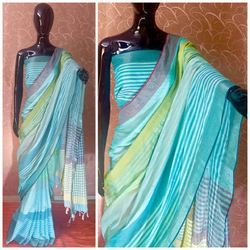 Raw Silk Saree with Contrast Pallu