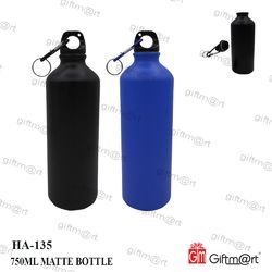 Aluminium Plain Matt Metal Bottle 750 Ml