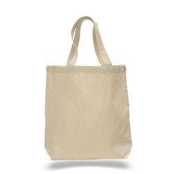 Loop Handle Plain Canvas Tote Bag