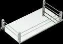 Ss Square Shelf (silver), Size: 5 X 8 Inch